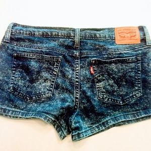 Levi's Shortie Denim Bleached Spotted Washed